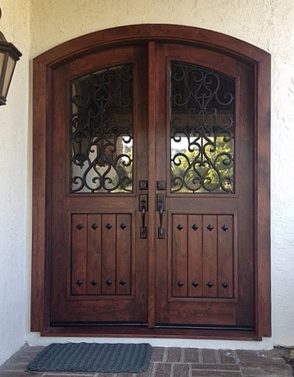 Color: Mahogany Stain. Passiflora St. Encinitas CA 2013. Laguna Hills 2015  Mahogany Wood Entry Door ...