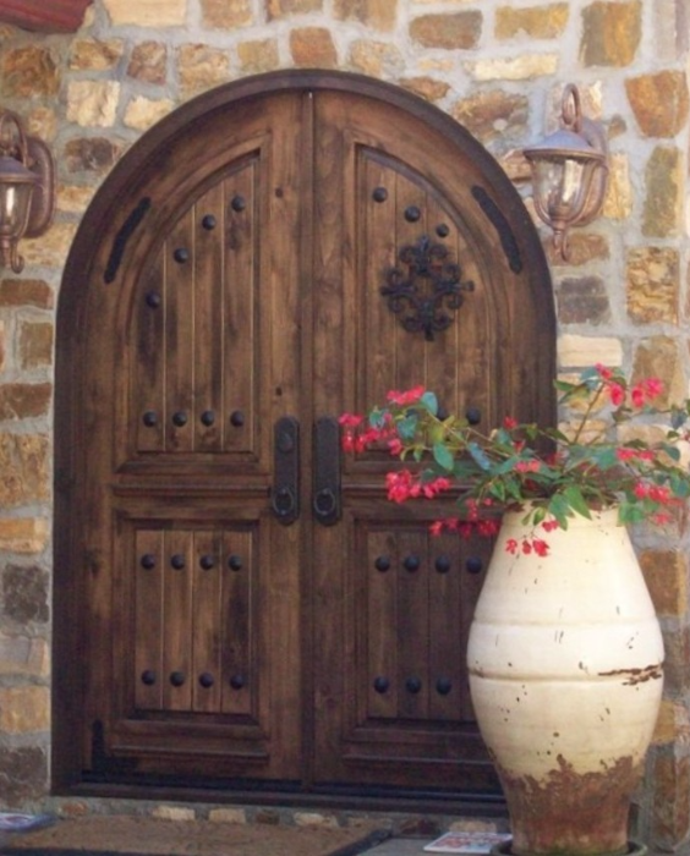 knotty Alder slighlty distress Tuscan color; Del Mar Via Latina 2008 Tuscan at its best! & RUSTIC 101 - Entry Doors