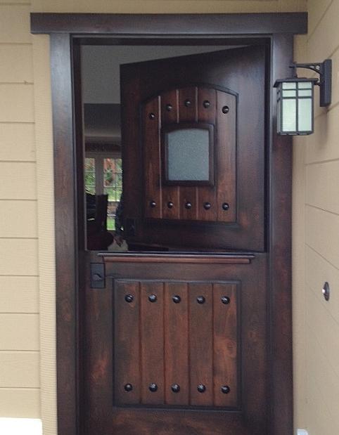 Bon Alder Craftsman Dutch Door; A Classic RUSTIC 101 (Chaparral Glazed Color)