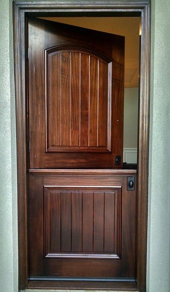Wood: Solid Mahogany Color: Early American Carlsbad 2015 Dutch Door ( 3u0027 6  X 8u0027 0)