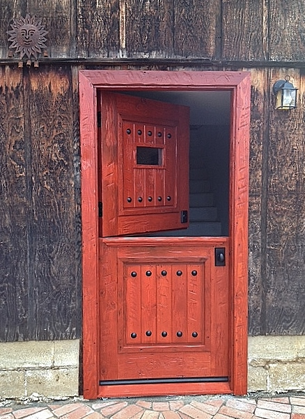 Old distress wood Dutch Door Encinitas 2015 Color Colonial red. & RUSTIC 101 - Entry Doors