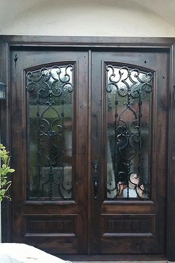 La Costa 2016 knotty Alder (open knots) Color April-dark Glass seed-it & RUSTIC 101 - Entry Doors