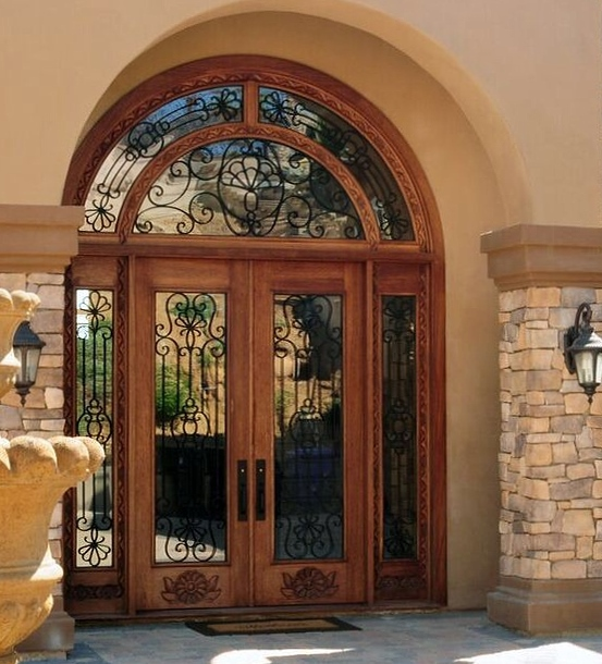 Hand Carved Mahogany Wood Entry Set Rancho Bernardo Ca 2006 Size 10 0 X 14 H Truly A Piece Of Art Design Jaime Adame Rustic 101 Color Natural